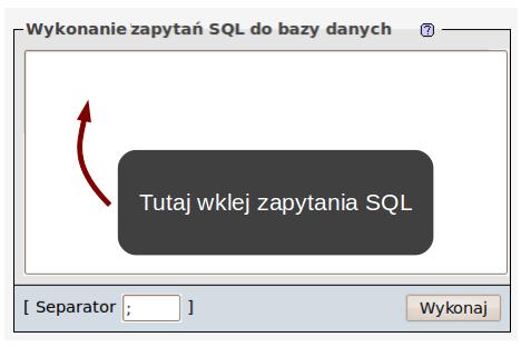 wykonywanie zapytań SQL